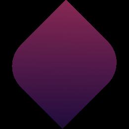 tropfenförmiges element in violett